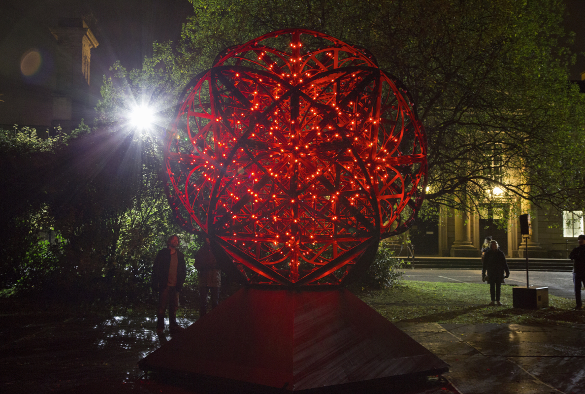 Installed at Crown Court Gardens, Lumiere Festival, Durham, UK